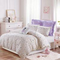 Little Princess 3-Piece Twin/Twin XL Duvet Cover Set in Ivory/Purple