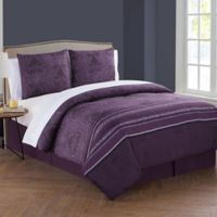 VCNY Home Marquesa King Comforter Set in Plum
