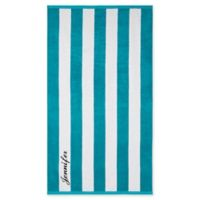 Wamsutta® Personalized Resort Stripe Beach Towel in Scuba
