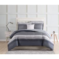 Carlyle Reversible Twin Comforter Set in Grey