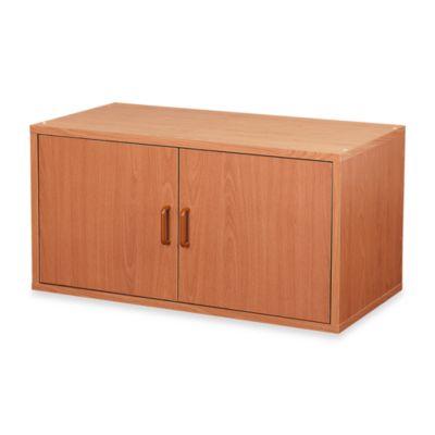 foremost 2door storage cube in honey