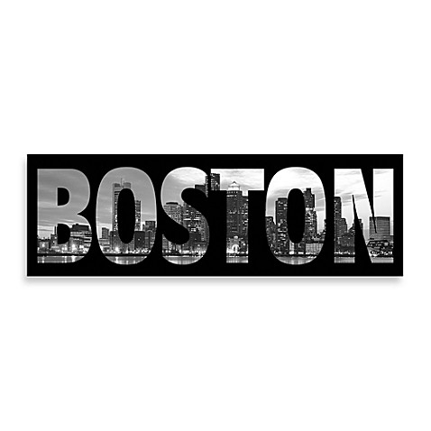 Boston Wall Art boston black and white wall art - bed bath & beyond