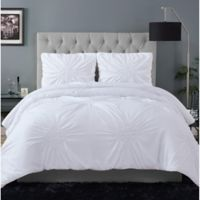 Christian Siriano® Georgia Rouched 2-Piece Twin XL Comforter Set in White
