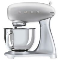 SMEG 5 qt. Stand Mixer with Glass Bowl in Silver
