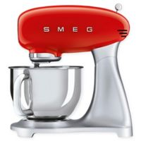 SMEG 5 qt. Stand Mixer with Glass Bowl in Red