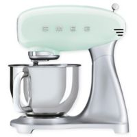 SMEG 5 qt. Stand Mixer with Glass Bowl in Pastel Green