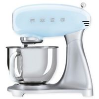 SMEG 5 qt. Stand Mixer with Glass Bowl in Pastel Blue