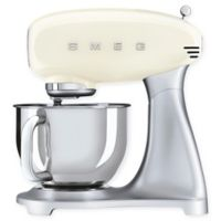 SMEG 5 qt. Stand Mixer with Glass Bowl in Cream