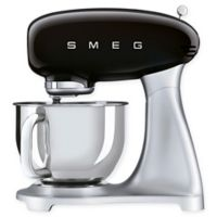 SMEG 5 qt. Stand Mixer with Glass Bowl in Black
