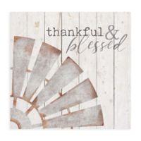 Thankful 24.5-Inch x 23.75-Inch Metal/Wood Wall Art