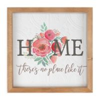 Home, There's No Place Like It 12.38-Inch Square Wood Wall Art