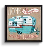 Mary Urban Adventure Love Camper 10-Inch Square Framed Canvas Wall Art