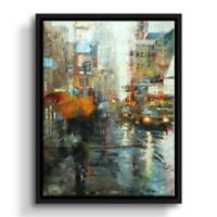 "ArtWall ""Manhattan Orange Umbrella"" 8-Inch x 10-Inch Floater Framed Canvas Wall Art"