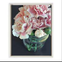 Uniek Carnations Framed Canvas Wall Art in White