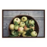 "Uniek ""Golden Delicious"" Framed Canvas Wall Art in Walnut"