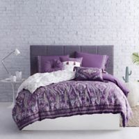 Boheme Reversible Twin Duvet Cover Set in Purple