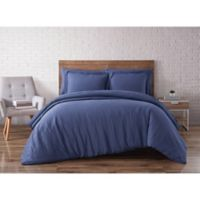 Brooklyn Loom Linen Navy Full/Queen Duvet Set