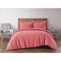 Brooklyn Loom Linen Dusty Rose King 3 Piece Duvet Set