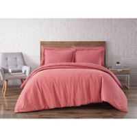 Brooklyn Loom Linen Dusty Rose King 3 Piece Duvet Set