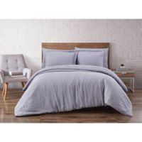 Brooklyn Loom Linen Grey Full/Queen 3 Piece Duvet Set
