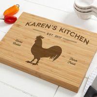 Farmhouse Kitchen 10-Inch x 14-Inch Personalized Bamboo Cutting Board