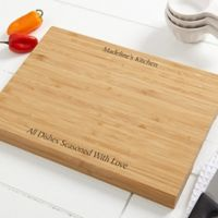 You Name It 10-Inch x 14-Inch Personalized Bamboo Cutting Board