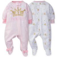 Gerber® Newborn 2-Pack Castle Footies in Pink