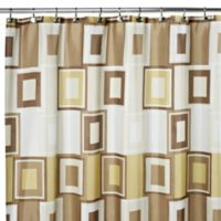 Contempo 108-Inch x 72-Inch Fabric Shower Curtain