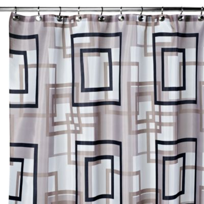 Carnation Home Fashions Lexington 108 Inch X 72 Fabric Shower Curtain