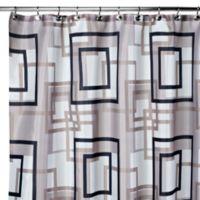 Carnation Home Fashions Lexington 108 Inch X 72 Fabric Shower Curtain