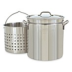 Bayou Classic 24 qt. Stock Pot with Basket and Vented Lid in Stainless Steel