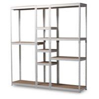 Baxton Studio Nancy 10-Shelf Closet Organizer in White