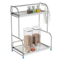 Lavish Home 2-Tier Metal Countertop Storage Rack in Silver