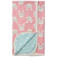 Gerber® Bunny Reversible Baby Blanket in Coral