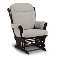 Best Chairs Custom Charleston Wood Glider in Grey Fabrics