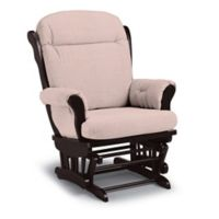 Best Chairs Custom Charleston Wood Glider in Pink Fabrics