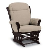 Best Chairs Custom Charleston Wood Glider in Tan Fabrics