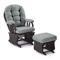 Best Chairs Custom Bedazzled Glide Rocker and Ottoman in Blue Fabrics