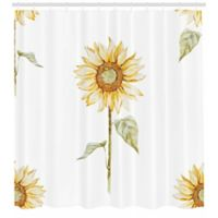 Sunflower 69-Inch x 70-Inch Shower Curtain in Yellow/Green