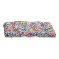 Pillow Perfect Make It Rain Zinnia Wicker Loveseat Cushion