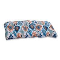 Pillow Perfect Paso Azure Wicker Loveseat Cushion