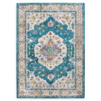 Modway Anisah Floral 4' x 6' Area Rug in Blue/Ivory