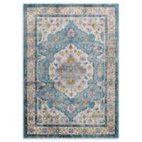 Modway Anisah Floral 4' x 6' Area Rug in Light Blue/Ivory