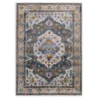 Modway Anisah Floral 4' x 6' Area Rug in Grey/Ivory