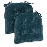 Brentwood Originals Carmichael Memory Foam Oversized Chair Pads in Teal (Set of 2)