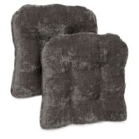 Brentwood Originals Carmichael Memory Foam Chair Pads in Pewter (Set of 2)