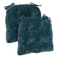 Brentwood Originals Carmichael Memory Foam Chair Pads in Teal (Set of 2)