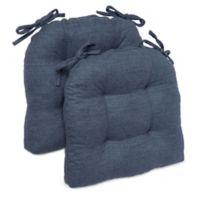 Brentwood Originals Stafford Memory Foam Chair Pads in Indigo (Set of 2)