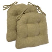 Brentwood Originals Stafford Memory Foam Chair Pads in Green (Set of 2)