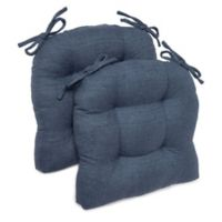 Brentwood Originals Stafford Oversized Chair Pads in Indigo (Set of 2)